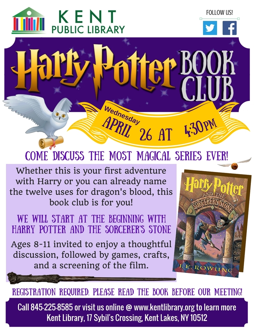 Harry Potter Book Club : Kent public library