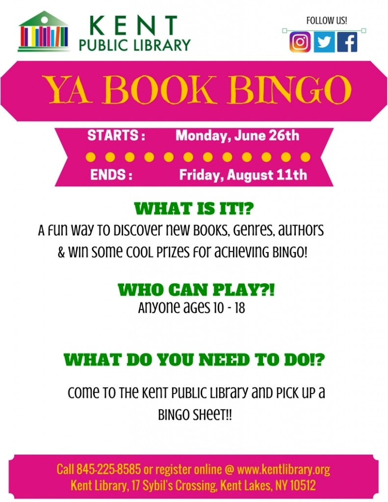 YA Book Bingo Flyer