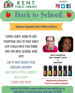 BACK TO SCHOOLEssential Oils SEPT program 2017