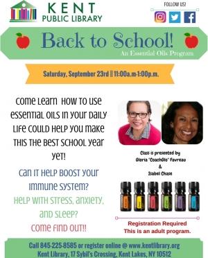 BACK TO SCHOOLEssential Oils SEPT program 2017
