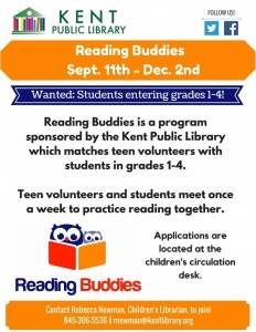 Reading Buddies Student Flyer Fall 2017