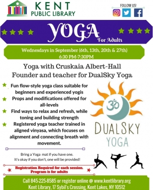 Yoga for adults, September 2017
