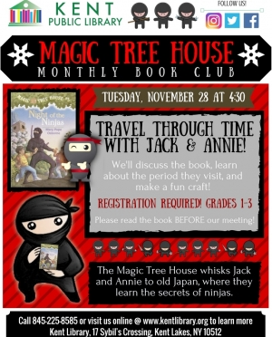 Magic Tree House November 2017