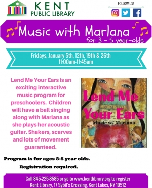 Lend Me Your Ears - Music With Marlana January 2018