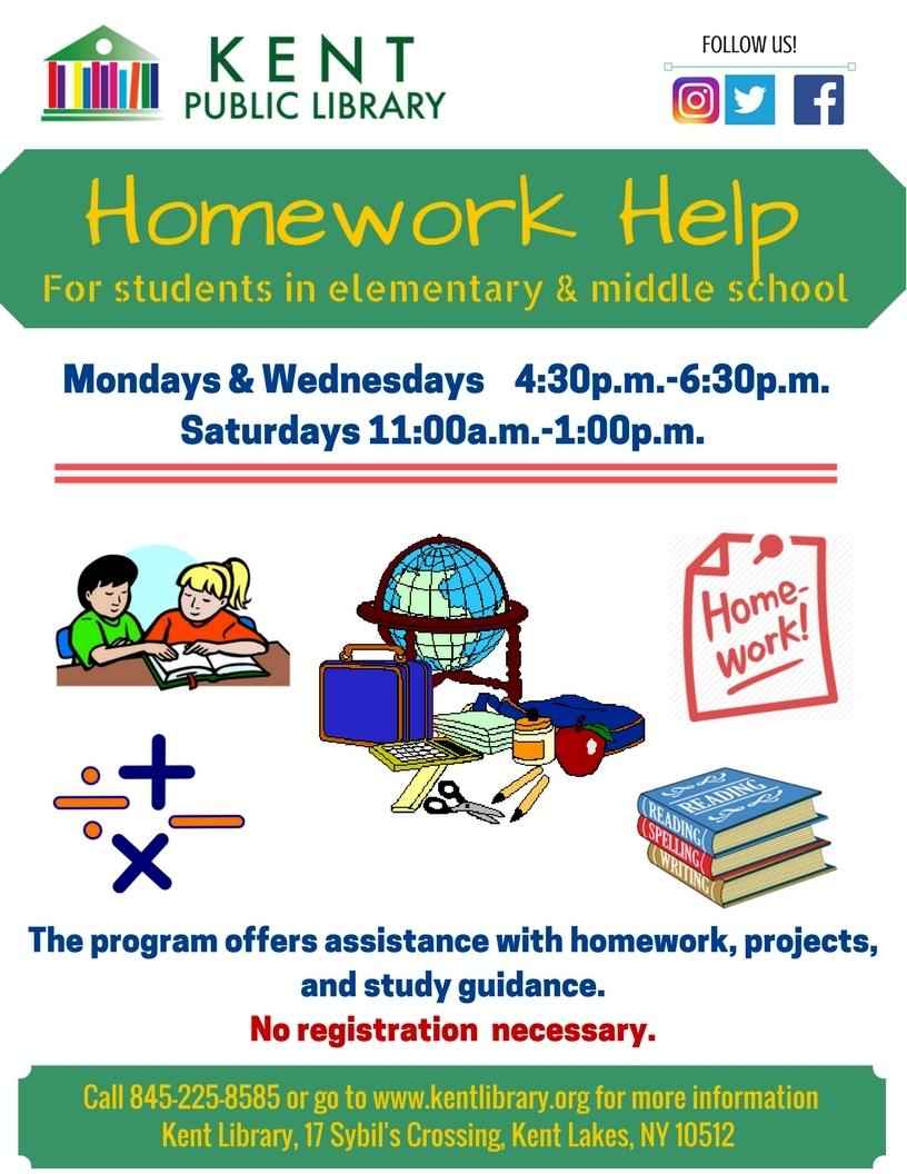 Homework helper flyer