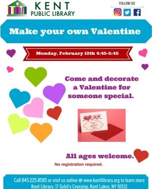 Make your own valentine Feb 2018