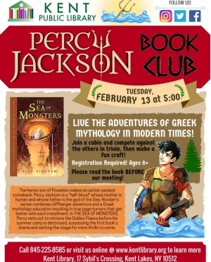 Percy Jackson Book Club - Sea of Monsters Flyer