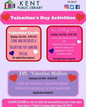 Valentine's Activities Feb 2018