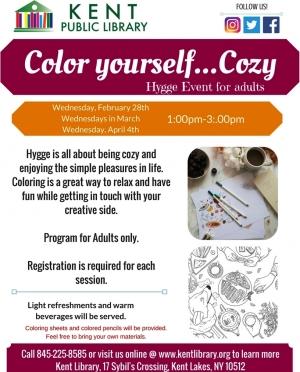 Color Yourself Cozy, Feb-April 2018