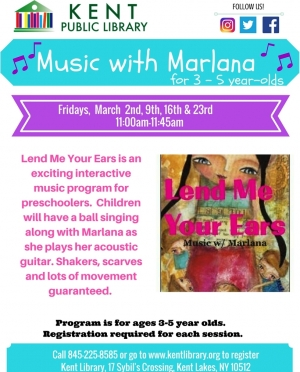 Lend Me Your Ears - Music With Marlana March 2018