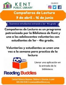 Reading Buddies Spring 2018 Spanish