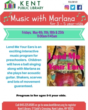 Lend Me Your Ears - Music With Marlana May 2018