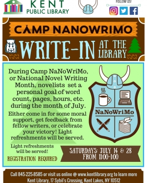 Camp NanoWriMo Flyer
