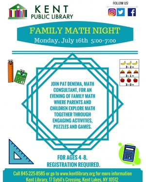 Family Math Night July 16 2018