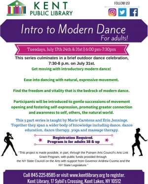 Intro to Modern Dance July 2018