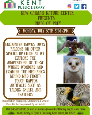 New Canaan Nature Center presents Birds of Prey July 2018 Final
