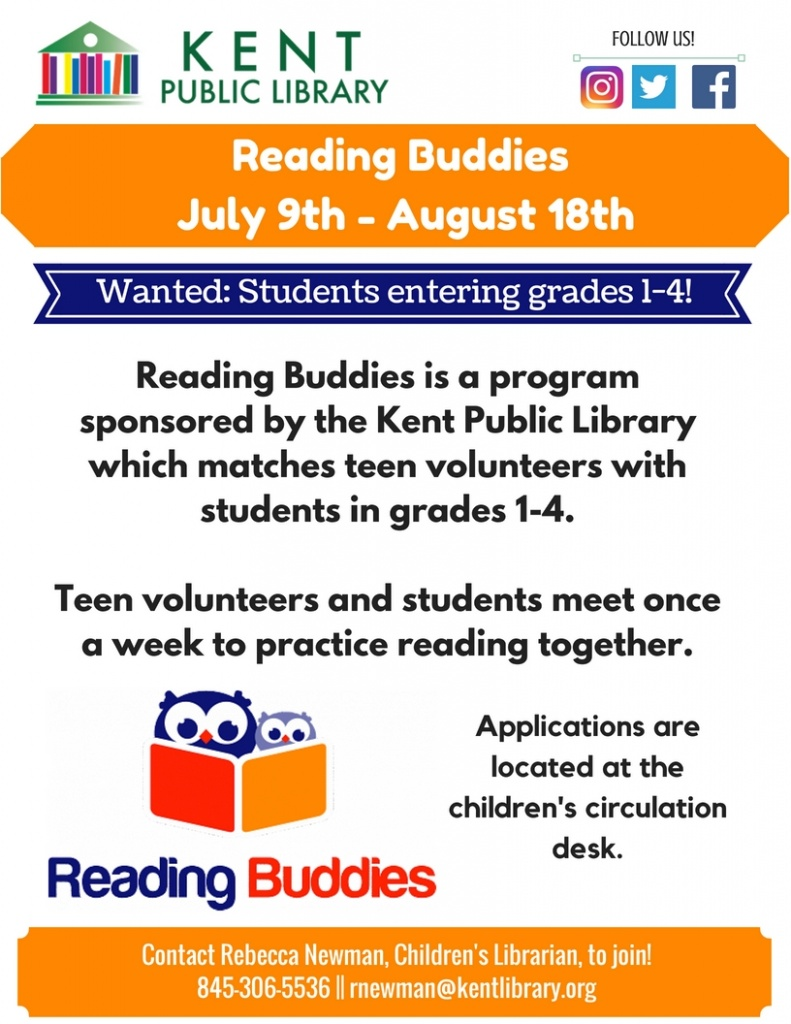 Reading Buddies Summer 2018
