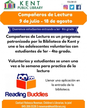 Reading Buddies Summer 2018 Spanish