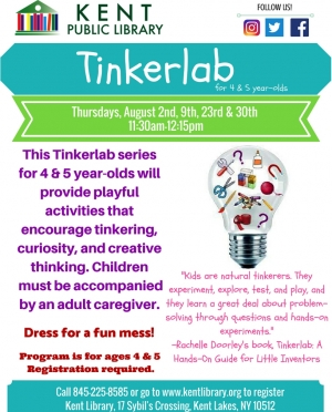 Tinkerlab for Four Year Olds