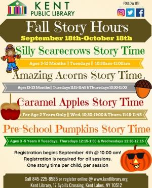 Fall, 2018 Story Hours