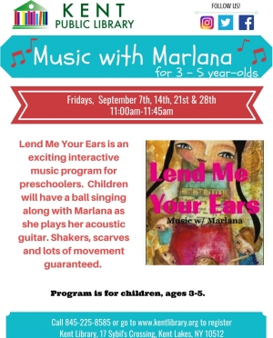 Lend Me Your Ears - Music With Marlana September 2018
