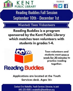 Reading Buddies Fall 2018_ Teen Volunteers