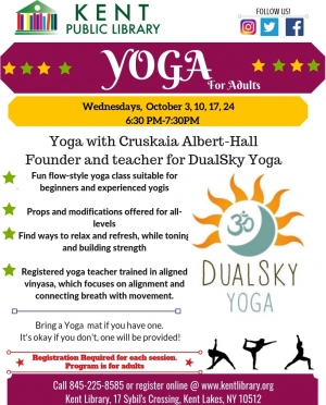 Yoga for adults, Fall 2018