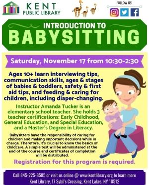 Intro to Babysitting Flyer