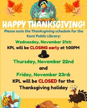 Thanksgiving Closings flyer