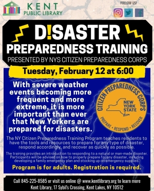 Disaster Prep Training