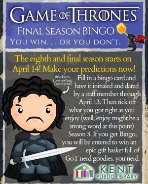 Copy of Game of Thrones Bingo Sheet 1