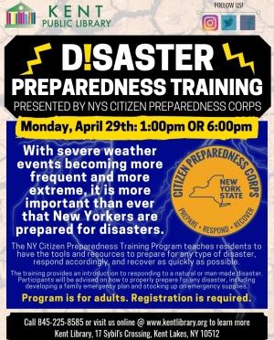 Disaster Prep Training