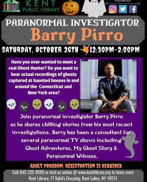 Barry Pirro Ghost Lecture